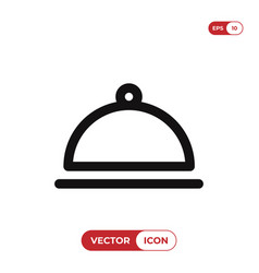food cloche icon cover food symbol vector image