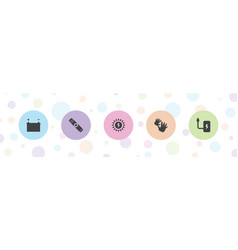 Generation icons vector