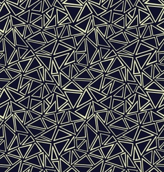 Geometricpattern with light hand drawn triangles vector