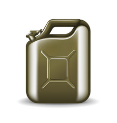 Green canister engine oil or petroleum isolated vector