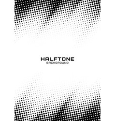 halftone dots grunge texture horizontal background vector image