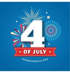 Happy independence day america 4 th july vector