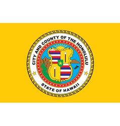 Honolulu City vector image