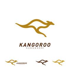 kangaroo logo design template kangaroo fast logo vector image