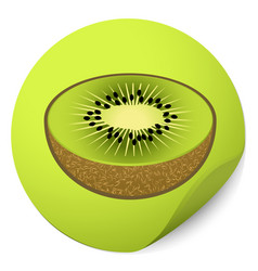 kiwi sticker vector image