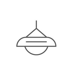 Lamp icon in linear style vector