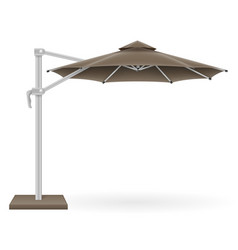Large sun umbrella for bars and cafes on the vector