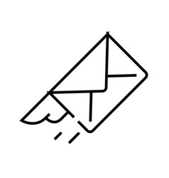 Letter line icon concept sign outline vector