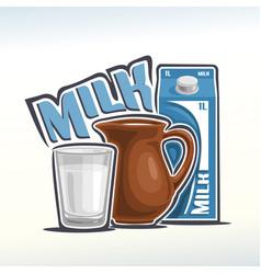 Logo of milk vector