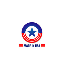 made in usa icon of flag star and stripes vector image