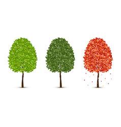 Maple tree set vector