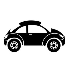 Monochrome silhouette with sport car vector