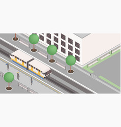 Monorail station isometric vector