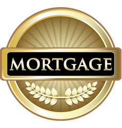 Mortgage gold label vector
