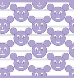 Pastel mickey face seamless pattern vector