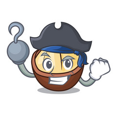 Pirate macadamia character cartoon style vector