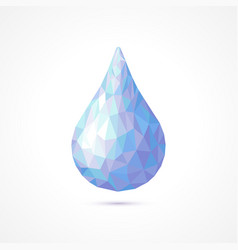 Polygonal water drop vector