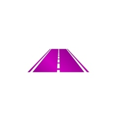 Road icon Flat vector image