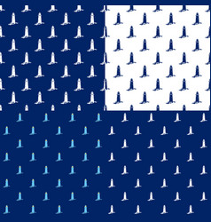 seamless maritime pattern with lighthouse vector image