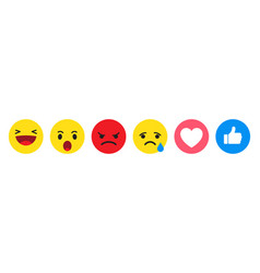 set emoticon for social media emoji icons vector image