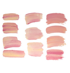 Set of vaniila color paint oil painting grunge vector
