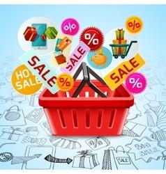 shopping sale concept vector image