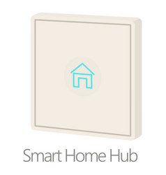 Smart home hub icon cartoon style vector
