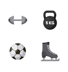 Sports equipments design vector