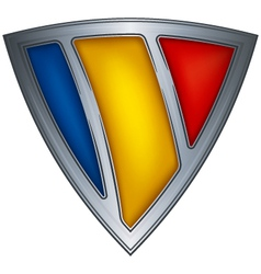 steel shield with flag chad vector image