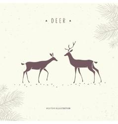 stylized deer vector image