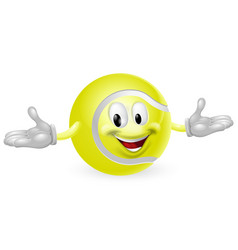 tennis ball man vector image