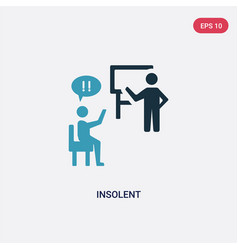 Two color insolent icon from user interface vector