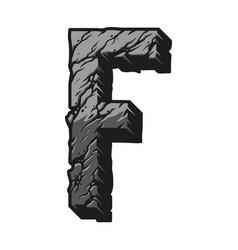 Vintage desert alphabet letter f concept vector