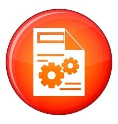 Web setting icon flat style vector
