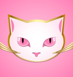White cat head vector