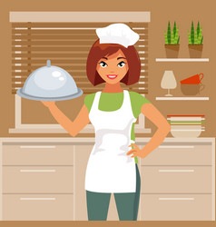woman cook vector image