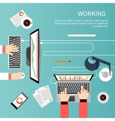 Working process of business team concept vector