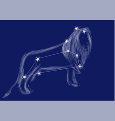 Zodiac sign-leo vector