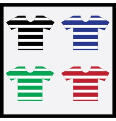 color navy t-shirts collection eps10 vector image vector image