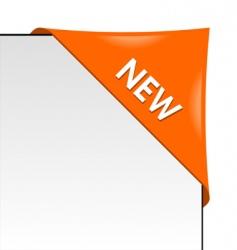 new orange corner business ribbon vector image vector image