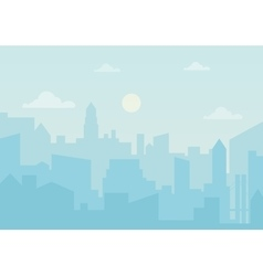 Sun day ozone in the city Cityscape simple vector image