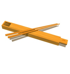 wood chopsticks vector image