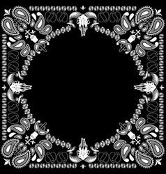 bandana pattern with goat skull vector image vector image