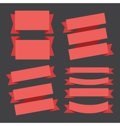 banners ribbons vector image