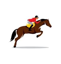 Horse at jumping sign vector image