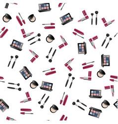 makeup artist pattern vector image vector image
