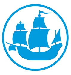old ship icon vector image