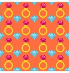 Precious ring seamless pattern vector