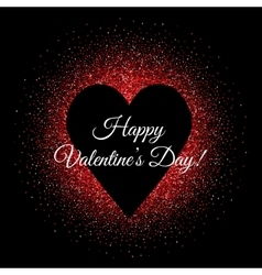 St Valentines day glittering background with heart vector image vector image