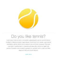 Tennis icon Yellow tennis ball vector image